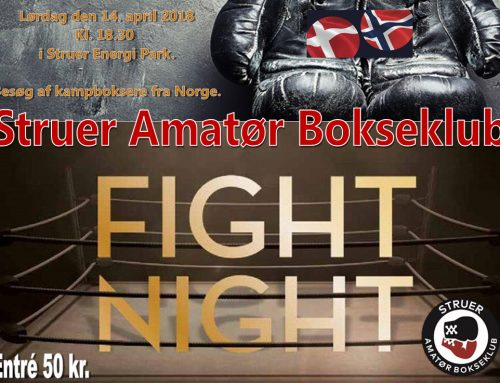 Struer Amatør Bokseklub Fight Night 14. april 2018